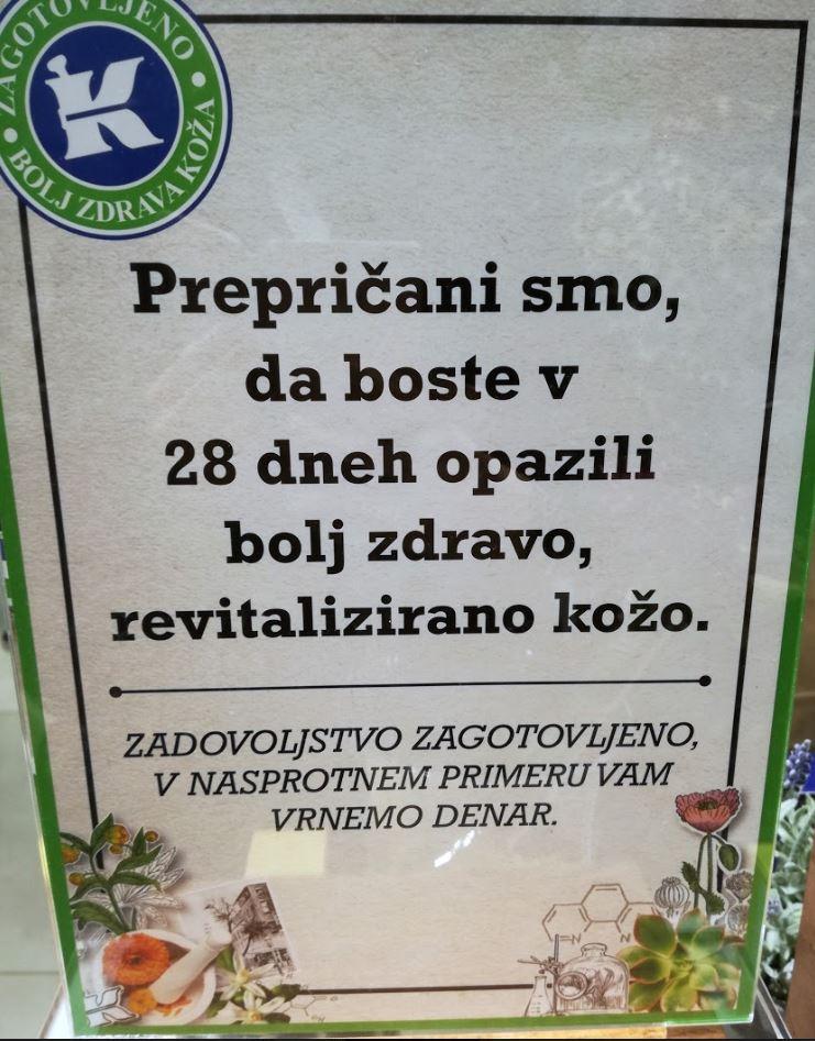 kiehl's otvoritev trgovine slovenija