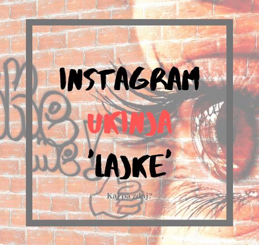 Instagram skriva všečke