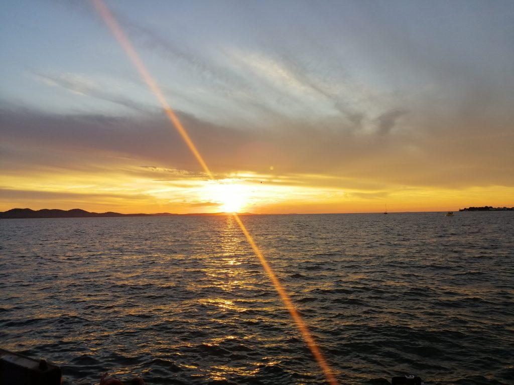 zadar hrvaška dalmacija sončni zahod